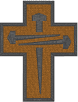 3 Nail Cross Embroidery Design