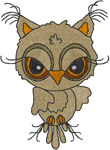 Little Hooter Embroidery Design