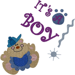 It's a Boy! Teddy Announcement Embroidery Design
