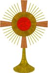 Ostensorium/Monstrance #2 Embroidery Design