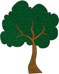 Leafy Tree Embroidery Design