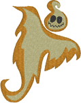 Two Tone Ghost Embroidery Design