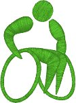 Wheelchair Athlete Embroidery Design
