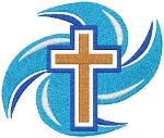 Living Water Cross Embroidery Design