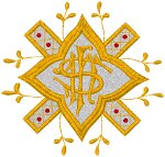 Vintage Ecclesiastical Design 822 Embroidery Design