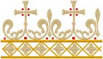 Mega Vintage Ecclesiastical Design 371 Embroidery Design