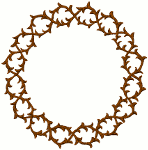 Mega Crown of Thorns #5 Embroidery Design