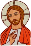 Mega Jesus Icon #2 Embroidery Design