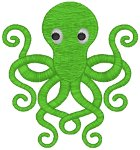 Playful Octopus Embroidery Design