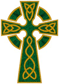 Mega Celtic Knotted Cross #3 Embroidery Design