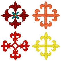 "1"" Crosses #2 Embroidery Design"