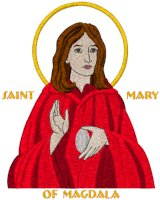 St. Mary of Magdala Icon Embroidery Design