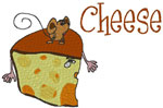 Machine Embroidery Designs: Cheese