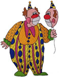 Machine Embroidery Design: Clown with a Face Balloon