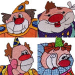 Big, Bold, Beautiful Clown Set Embroidery Design