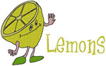 Machine Embroidery Designs: Lemons