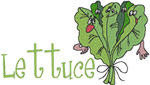 Machine Embroidery Designs: Lettuce