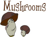 Machine Embroidery Designs: Mushrooms