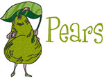 Machine Embroidery Designs: Pears