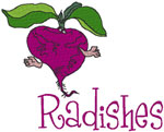 Machine Embroidery Designs: Radishes