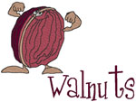 Machine Embroidery Designs: Walnuts