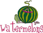 Machine Embroidery Designs: Watermelons